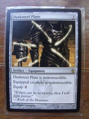 Dark Steel Plate, Mirrodin Besieged, NM    Magic the Gathering