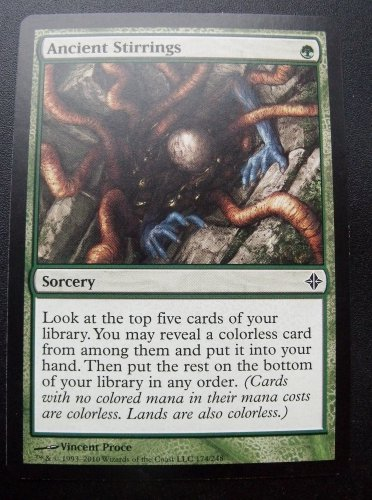 Ancient Stirrings, Rise of the Eldrazi, VF/NM  Magic the Gathering