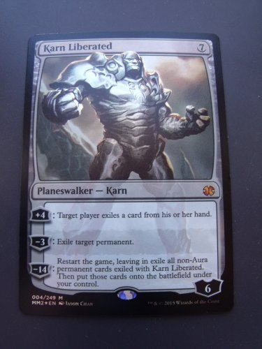 FOIL Karn Liberated, Modern Masters 2015, NM   Magic the Gathering