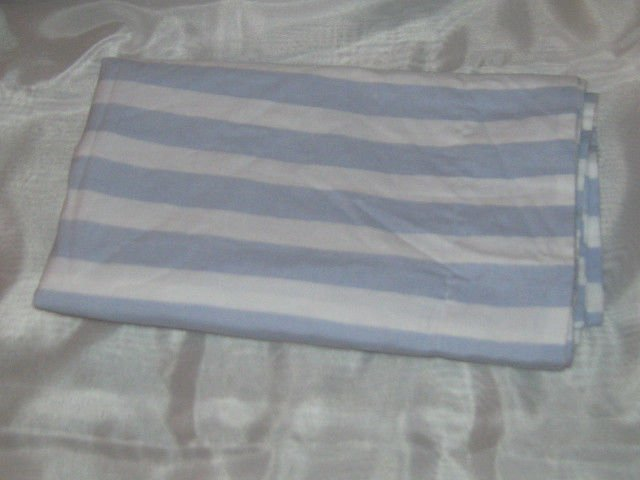 New 2 Euro Shams 20x26 - Light Blue & White Striped - 100% Cotton