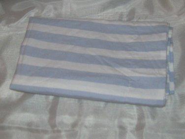 New 2 Euro Shams 20x26 - Light Blue & White Striped - 100% Cotton