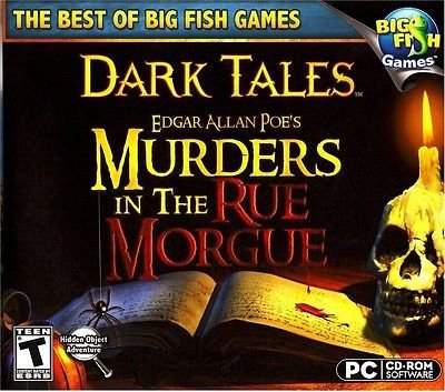 Dark Tales: Murders In The Rue Morgue Collector's Edition HIDDEN OBJECT PC Game