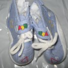 Carter's Boys Baby Shoes Size 3 -  NWOT - Blue Quilted with Zipper on side