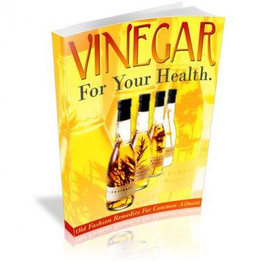 Vinegar For Your Health eBook on CD Printable