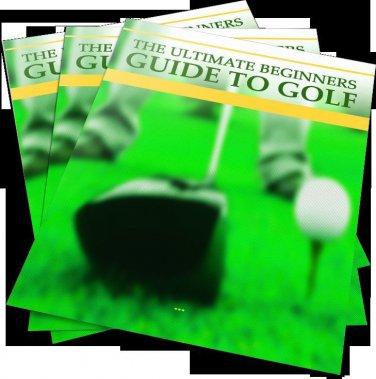 Beginner's Guide To Golf Printable eBook on CD
