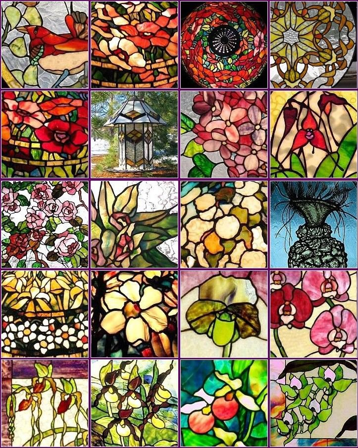 18 Stained Glass Patterns eBook on CD Printable