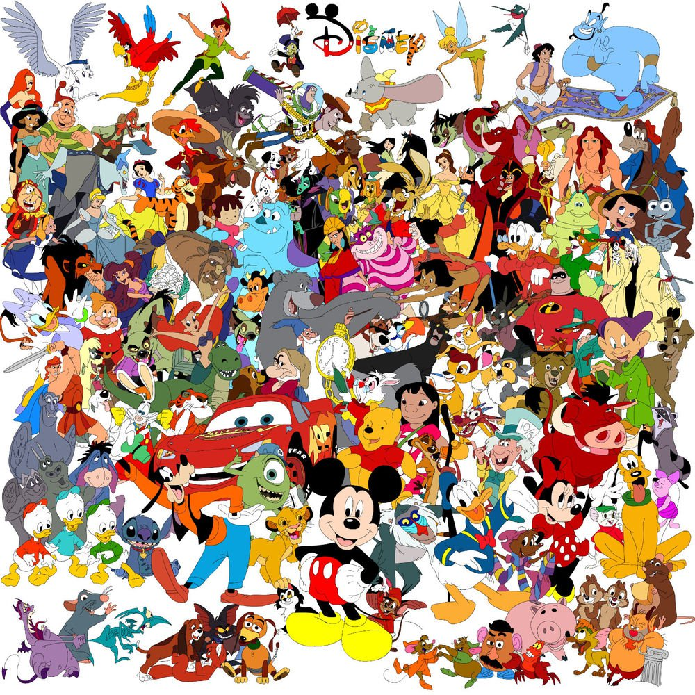 DISNEY Cartoon Characters Printable Coloring eBook 900 Pages on a CD