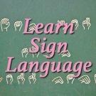 Learn Sign Language eBook on cd Printable