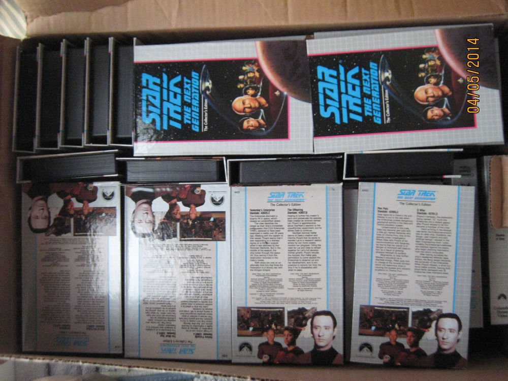 Star Trek TNG The Next Generation Collectors Edition (VHS) 50 Tape Set Lot 100
