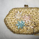 Antique Gold Beaded Coin Pocket Book