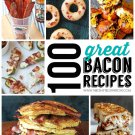 100+ BACON Recipes eBook on CD Printable