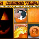 280+ Halloween Pumpkin Carving Printable Patten Templates & Designs eBook on CD