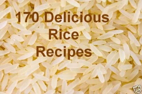 173 RICE Recipes on CD Printable eBook