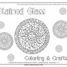 Stained Glass Printable Coloring eBook 97 Pages on CD