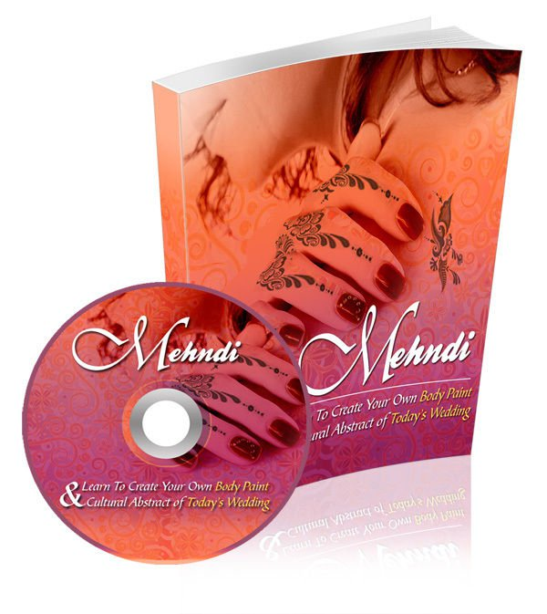 MEHNDI (HENNA) The Art to Create Your Own Body Paint on CD eBook