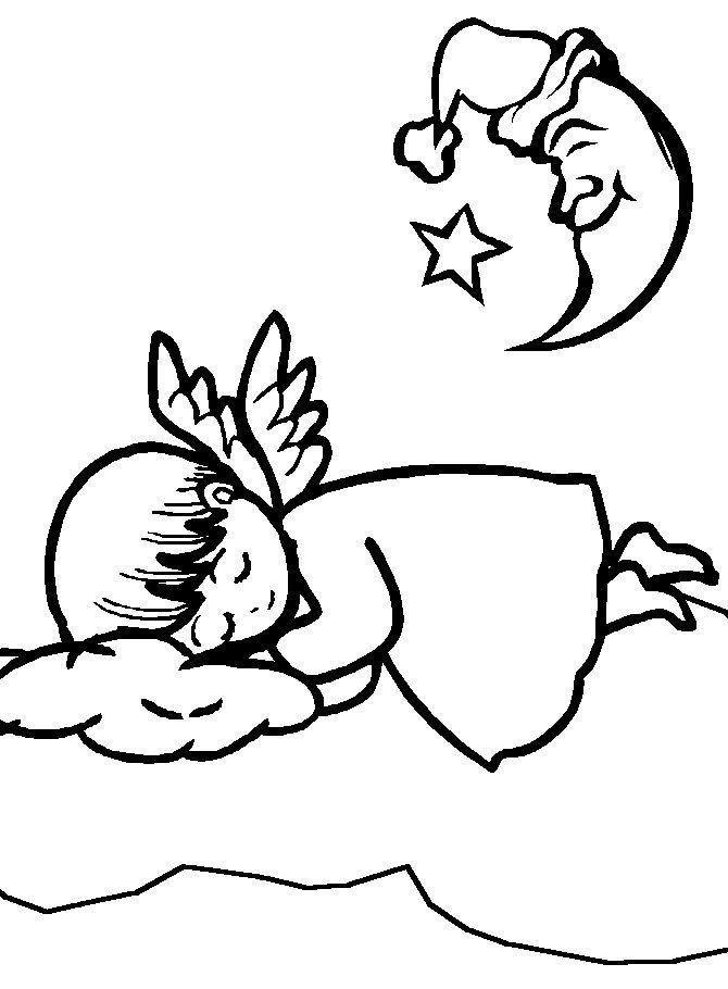 Angels Printable Coloring eBook 36 Pages on a CD
