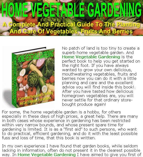 Home VEGETABLE GARDENING Guide eBook