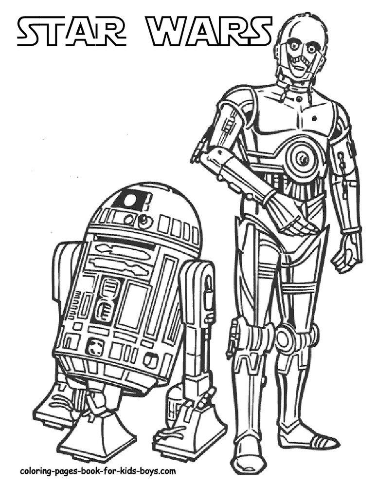 Star Wars Printable Coloring eBook 68 Pages