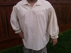 2XL Renaissance Drop Yoke Primitive Pirate Pioneer Poet Theatre Shirt
