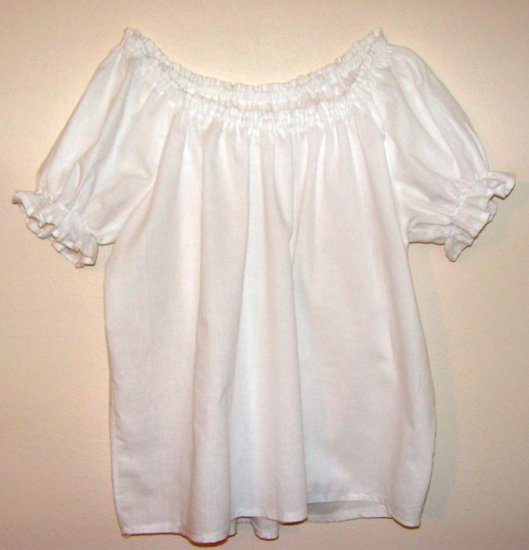 XL Womens Renaissance Faire Short Sleeve Shirt Blouse Chemise