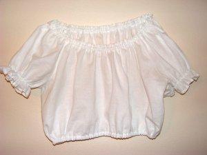 Womens Small Midriff Renaissance Belly Dancing Shirt Blouse Chemise