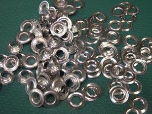 144 COUNT 1 gross SIZE 0 Aluminum Fake silver GROMMETS WASHERS .25 inch I.D. NEW