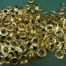 72 COUNT 1/2 gross SIZE 0 SOLID BRASS GROMMETS .25 inch I.D. NEW