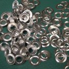 72 COUNT 1/2 gross SIZE 0 Aluminum Fake silver GROMMETS .25 inch I.D. NEW