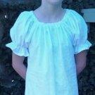 Girls SIZE 7 - 8 Renaissance Faire Short Sleeve Blouse Chemise