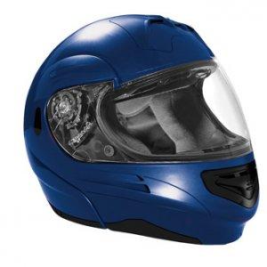 Summit II Vega motorcycle helmet bright blue metalic flip up modular cruiser sizes xs-2xl