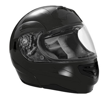 SUMMIT II VEGA FLIP UP MODULAR MOTORCYCLE HELMET BLACK DOT SIZES XS-2X IN STOCK
