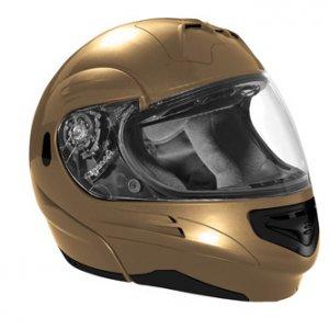 SUMMIT II VEGA FLIP UP MODULAR MOTORCYCLE HELMET GOLD DOT SIZES XS-2X IN STOCK