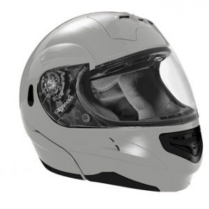 SUMMIT II VEGA FLIP UP MODULAR MOTORCYCLE HELMET SILVER DOT SIZES XS-2X IN STOCK