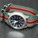 Green Black Red Stripe 18mm Nato Nylon Watch Strap
