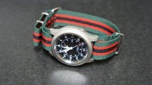 Green Black Red Stripe 22mm Nato Nylon Watch Strap