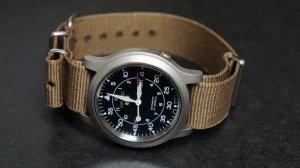 Brown 18mm  Nato Nylon Watch Strap