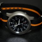 Black and Orange Stripe 20mm James Bond Nato Nylon Watch Strap