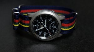 Blue Red Yellow Green Stripe 18mm Nato Nylon Watch Strap