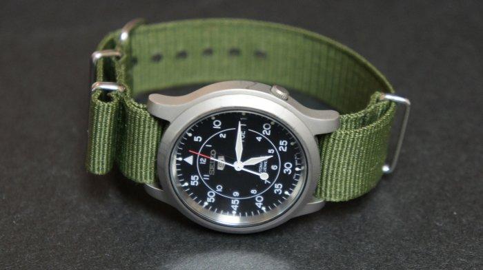 Military Green 18mm Nato Nylon Watch Strap