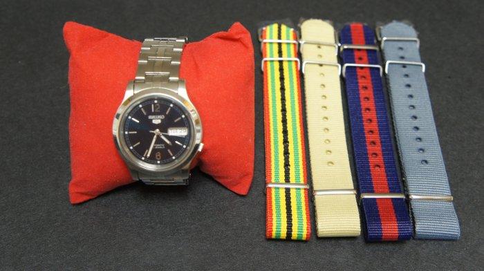 Seiko Automatic Stainless Steel Watch SNK799K1 w/ straps