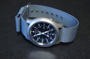 Gray 18mm Military Watch Strap
