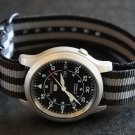 Black Gray Stripe 18mm PVD Black Line Nato Nylon Watch Strap