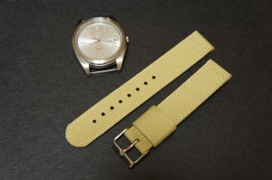 Sand 24mm 2 Piece Military Watch Strap