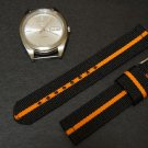 Black Orange 18mm 2 Piece Military Watch Strap