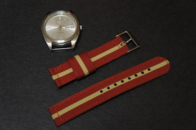 Red Sand 20mm 2 Piece Military Watch Strap