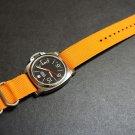 Orange 24mm 3 Ring Zulu Nylon Watch Strap Band