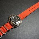 Red 24mm 3 Ring Zulu Nylon Watch Strap Band