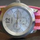 Pink and Red Stripe 20mm James Bond  Nato Nylon Watch Strap