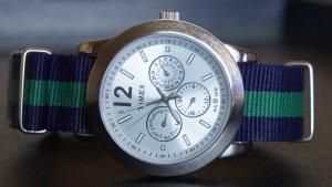 Blue and Green 20mm Nato Nylon Watch Strap