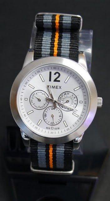 Black Gray and Orange 20mm Nato Nylon Watch Strap